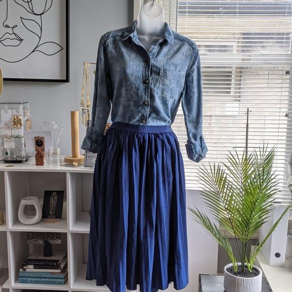Ultra Flirt Dresses & Skirts - Blue Pleated Skirt